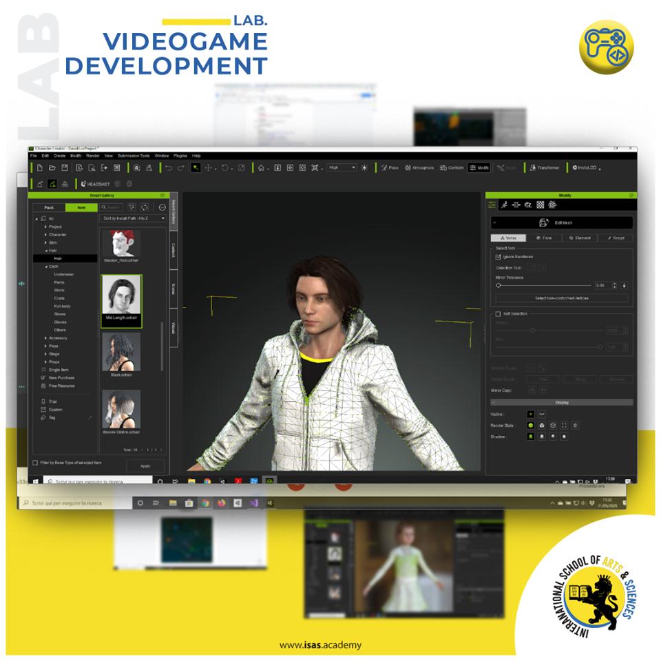Personaggio 3D videogame Unconscious Mind